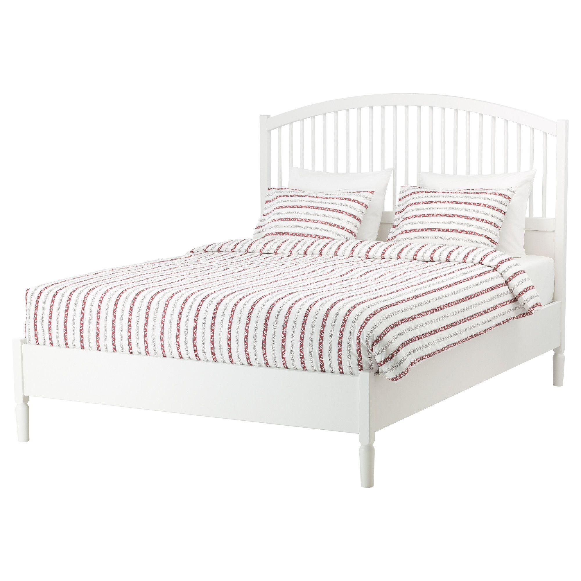 TYSSEDAL Bed frame, white, Lönset