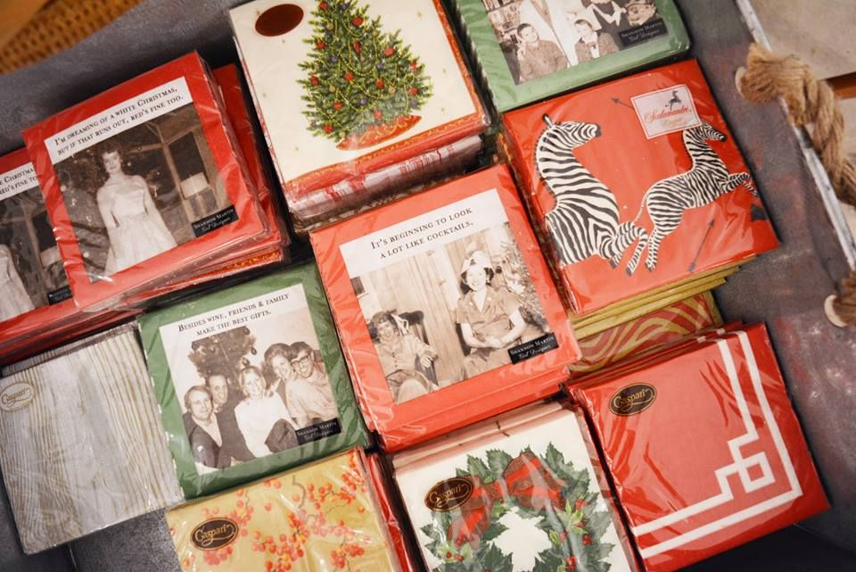 It's beginning to look a lot like...cocktail napkins! A variety of the best holiday assortments can be found at @kelloggfurn