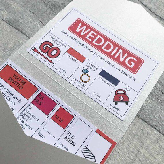 Board Game Wedding Invitations Fun Quirky & Unique Wedding