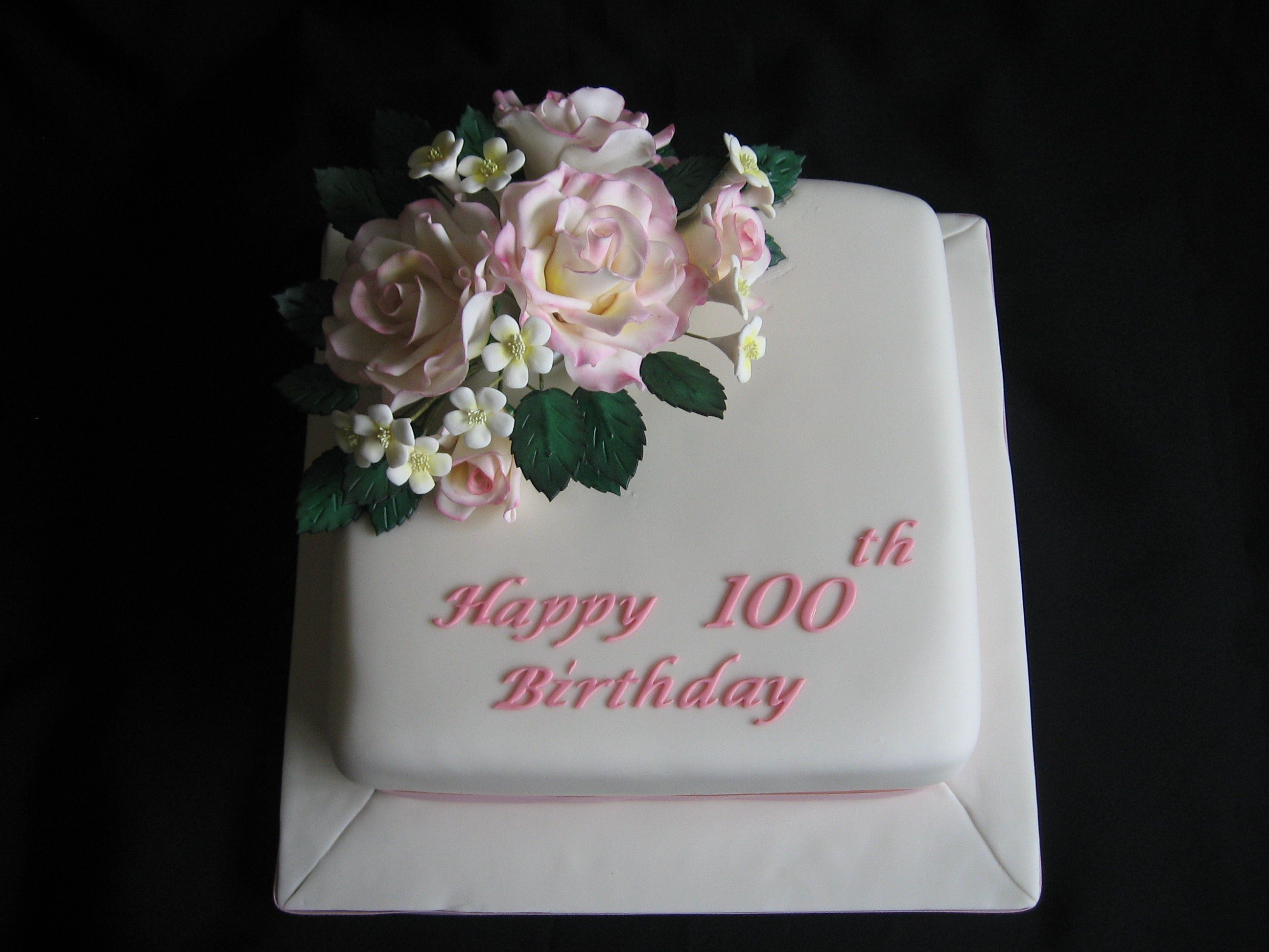 100th B Day Cake 100th Birthday Cake Happy 100th Birthday