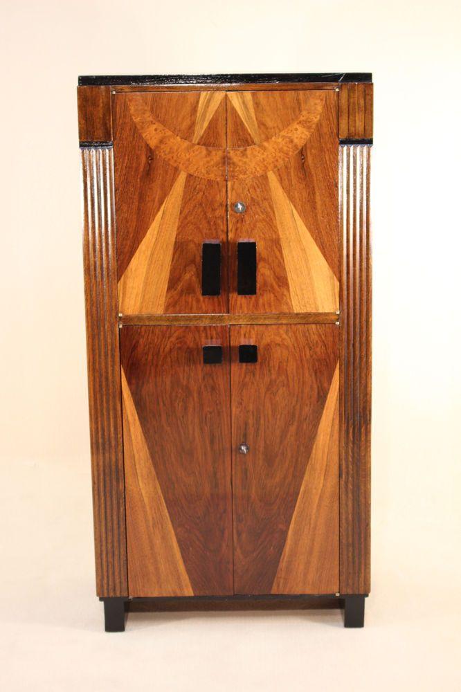meuble de rangement art dco vers 1930 en palissandre