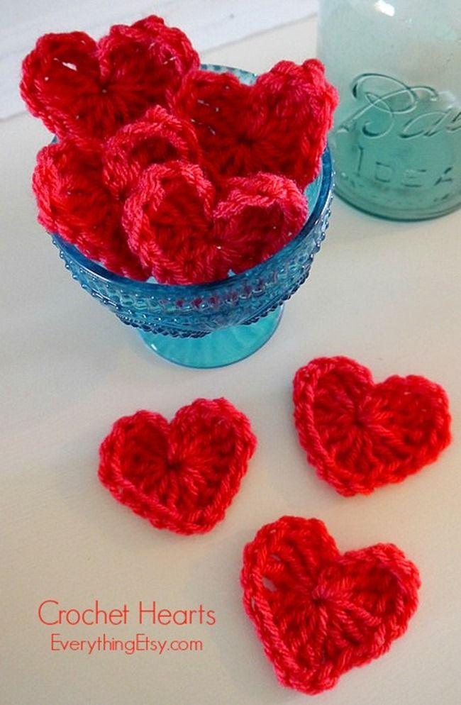 Crochet Heart Pattern | Gehäkelte herzen, Häkeln und Strickmuster
