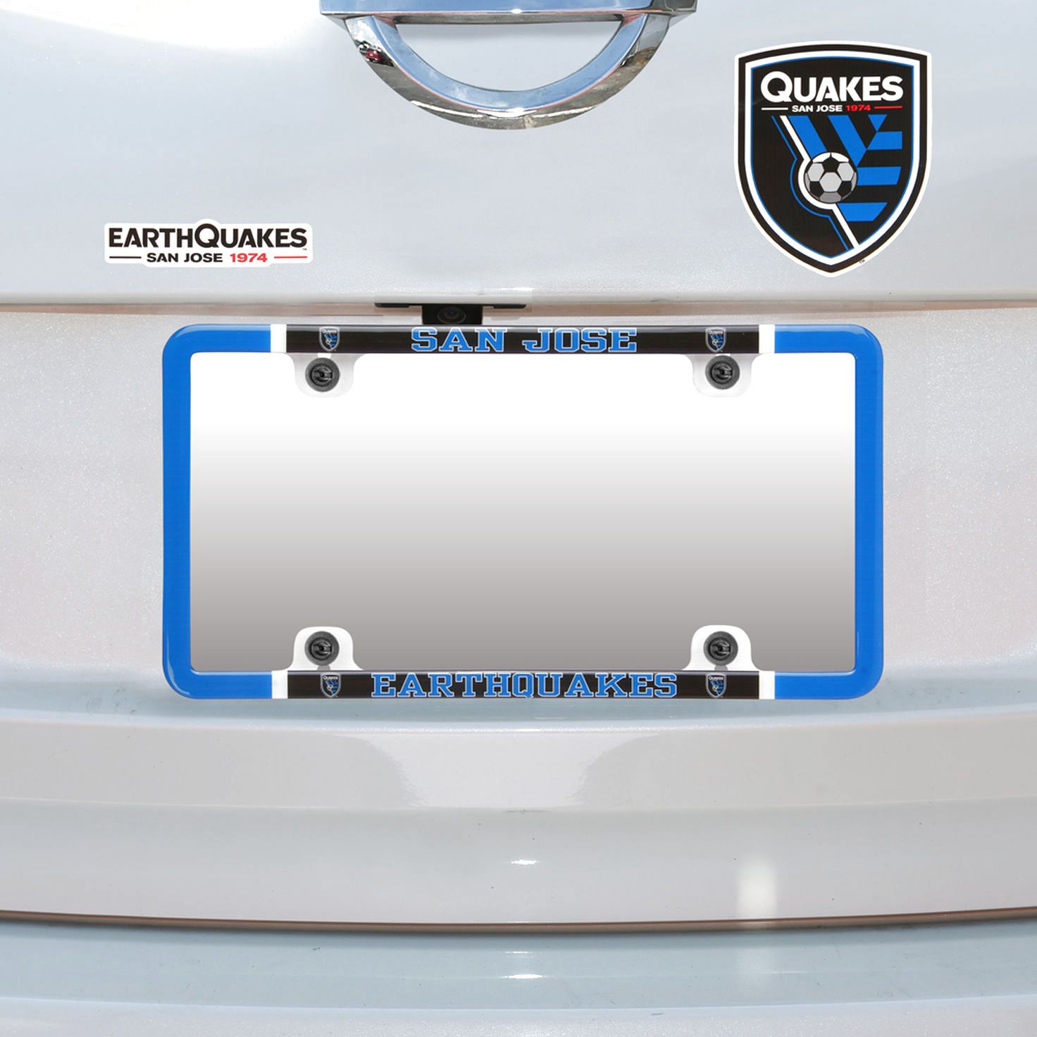 San Jose Earthquakes Thin Rim License Plate Frame and Decal Set ...