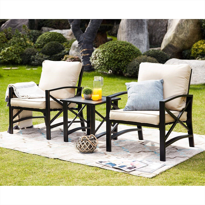 Lokatse Home 3 Piece Patio Conversation Set Conversation Set Patio Seating Groups Stylish Outdoor Furniture