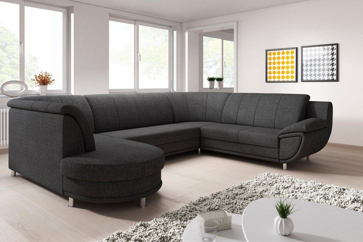 Wohnlandschaft Wahlweise Mit Bettfunktion Couch Sofa Home