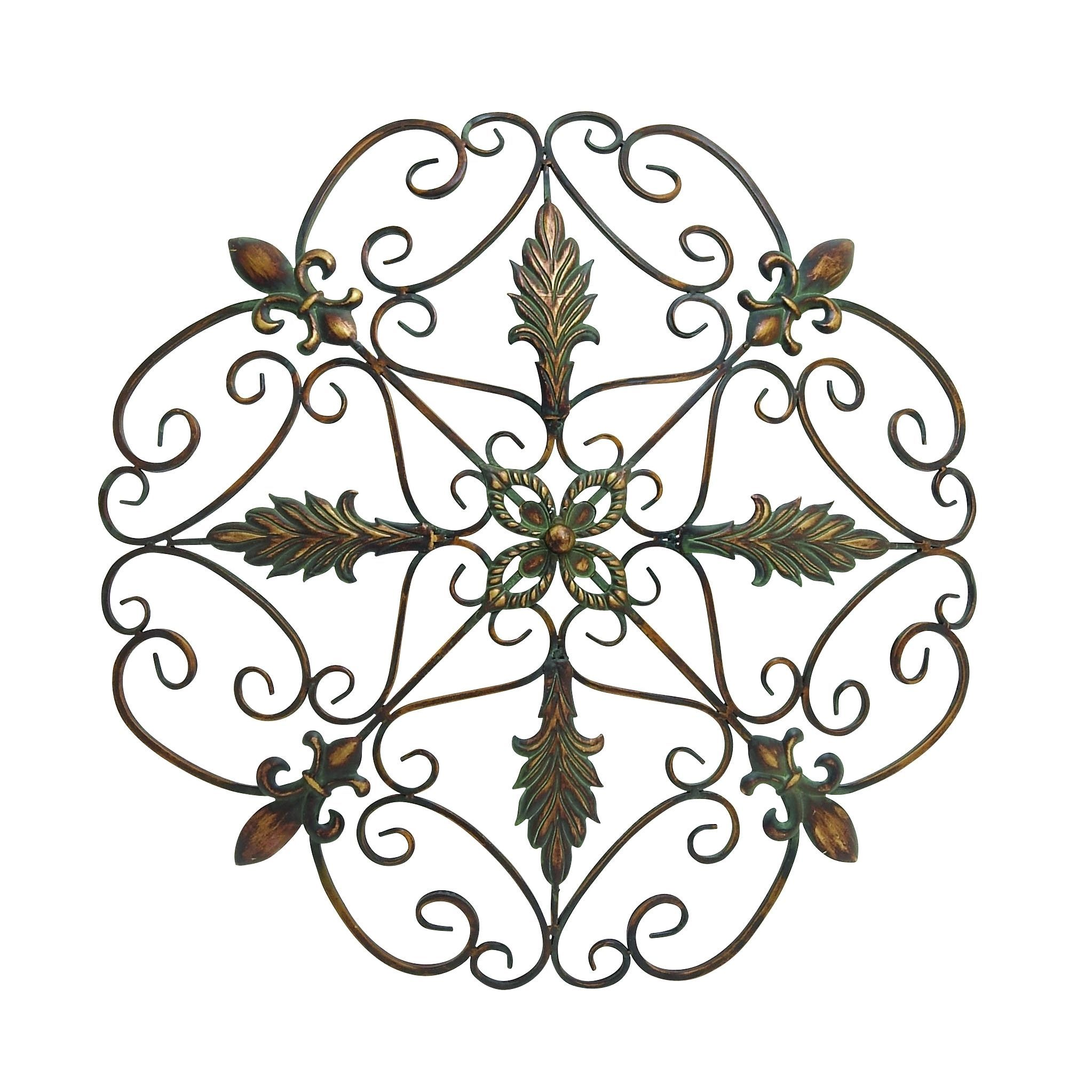 Elegant and antique themed metal wall decorative dcor multi