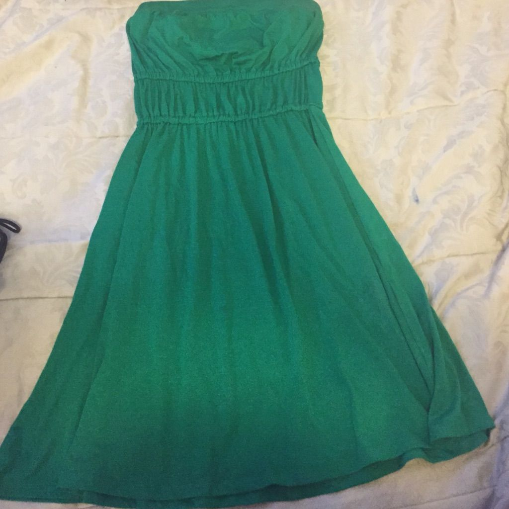 Green Xoxo Cotton Strapless Dress | Strapless dress, Cotton and Products