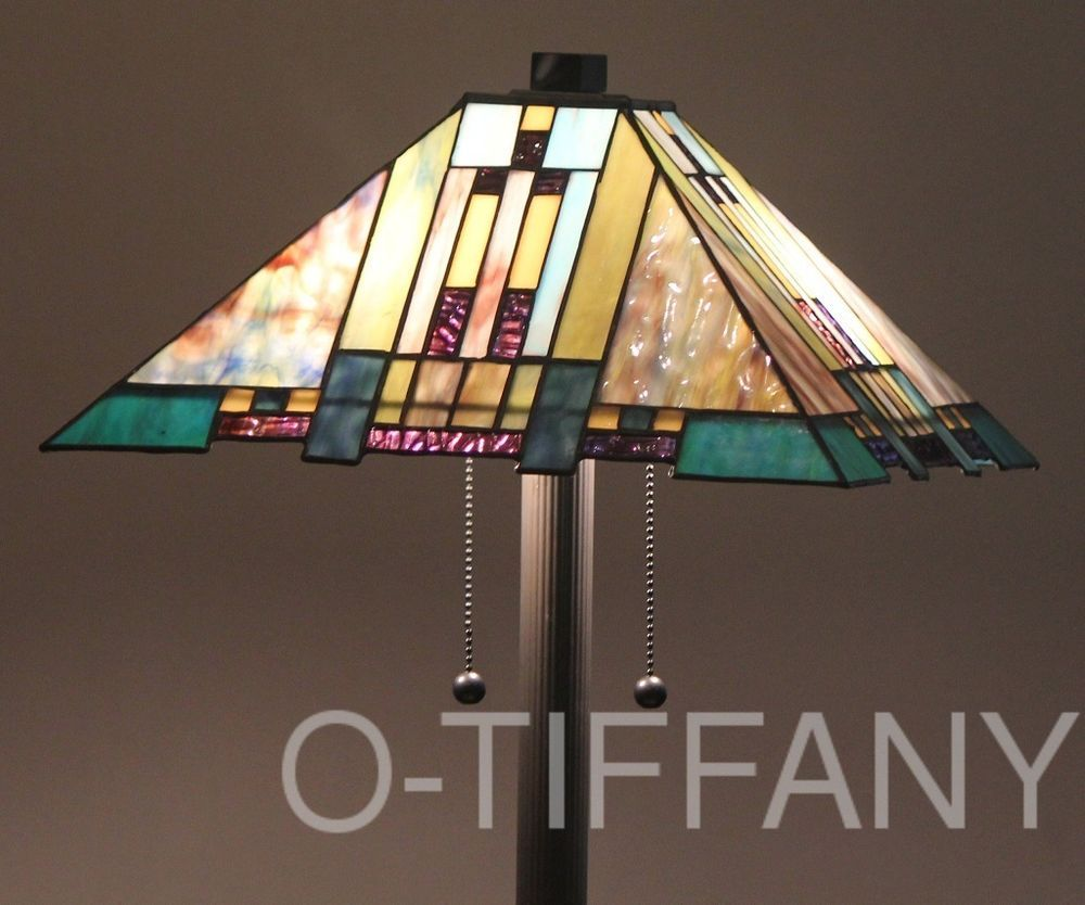 Tiffany Style Stained Glass Mission Floor Lamp Aspen Blue Mission Floor Lamp Lamp Stained Glass Floor Lamp