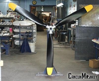 Hartzell 94 3 Bladed Metal Warbird Aviation Art Airplane Propeller Display Ebay