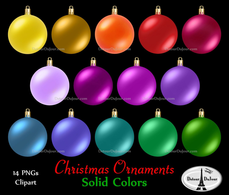 - 14 Assorted Christmas Ornaments Clipart, Plain Christmas Ornament