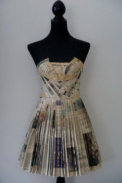 Newspaper Dress, Paper