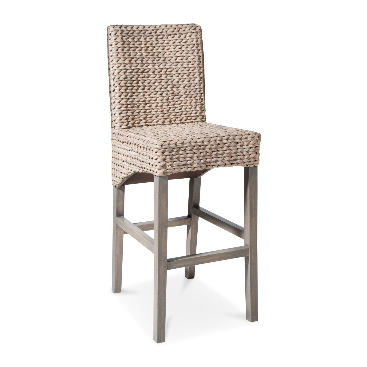 The Andres Seagrass Barstool Grey Gives A Beachy Vibe To