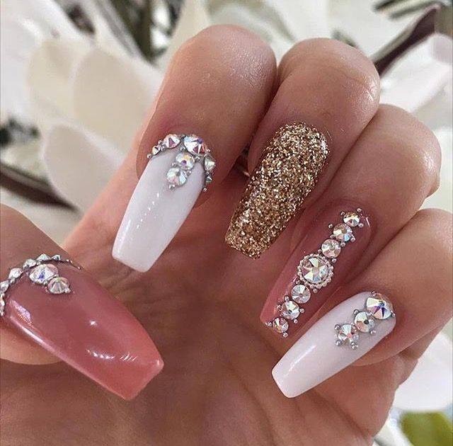 Image Result For Pink Nails With Diamonds Hubz 78 What