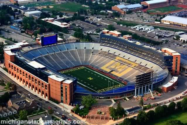 Michigan Stadium Ann Arbor Mi Seating Chart View Stadium Sports Stadium Michigan Football