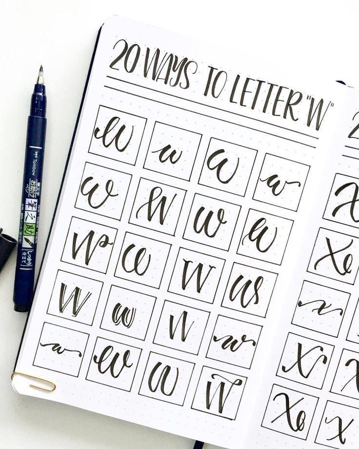 20 Ways To Letter W • Studio 80 Design