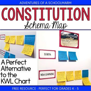 Constitution Day Free Resource - Schema Map (alternative to a KWL - kwl chart