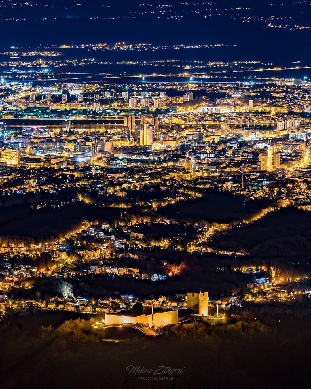 Cro Explore On Instagram Nightlife In Zagreb Croatiafulloflife Zagrebcity Zagreb In 2020 Croatia Aerial Photo