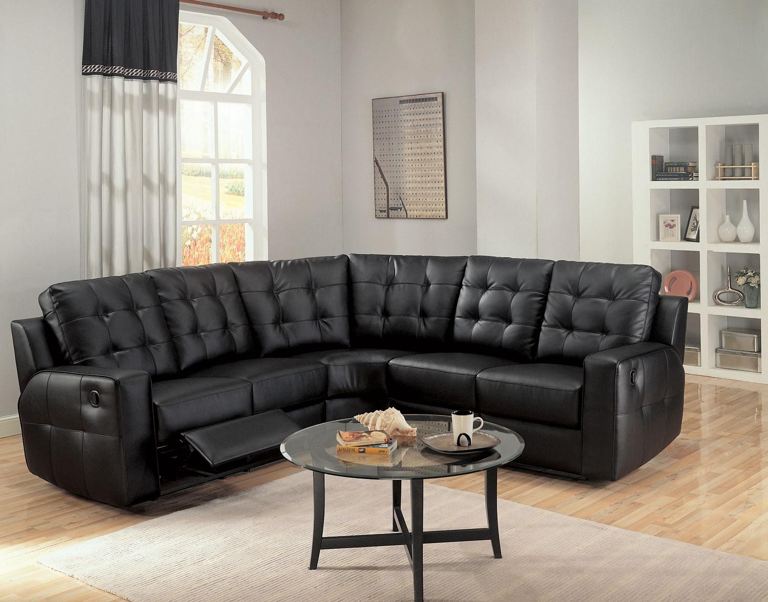 1,889.99 The Black Reclining Sectional w/ Armless Chair