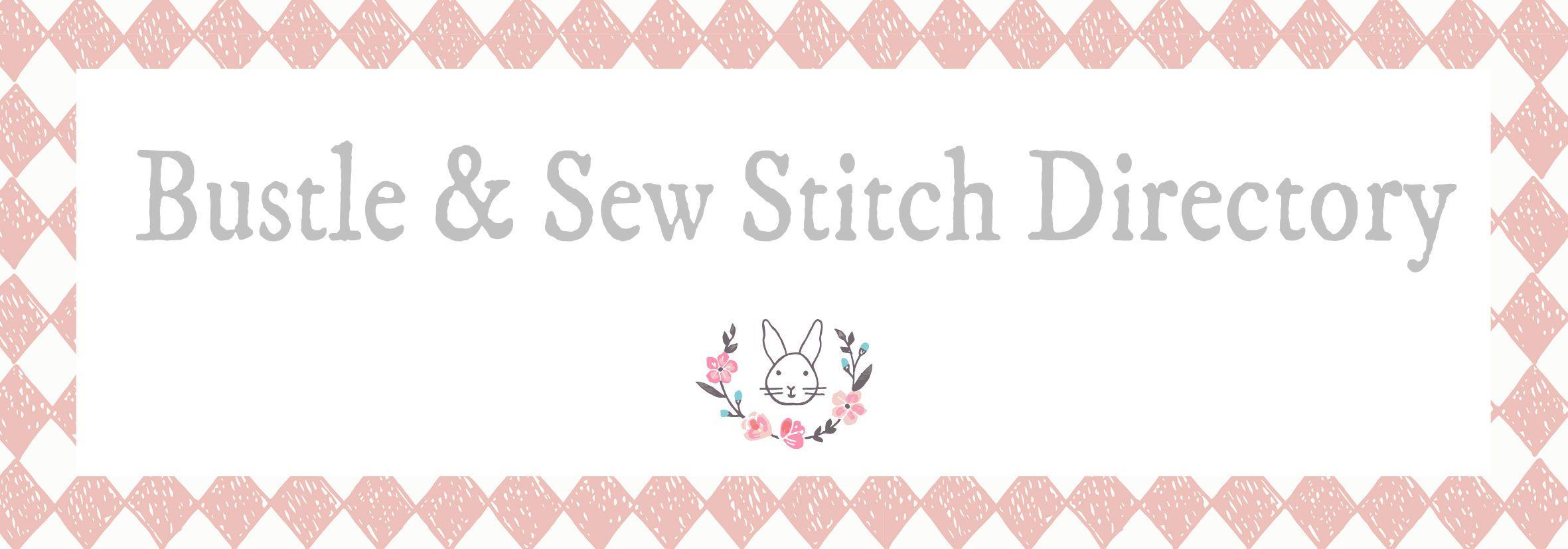 Bustle & Sew Stitch Directory   embroidery Sticken   Pinterest