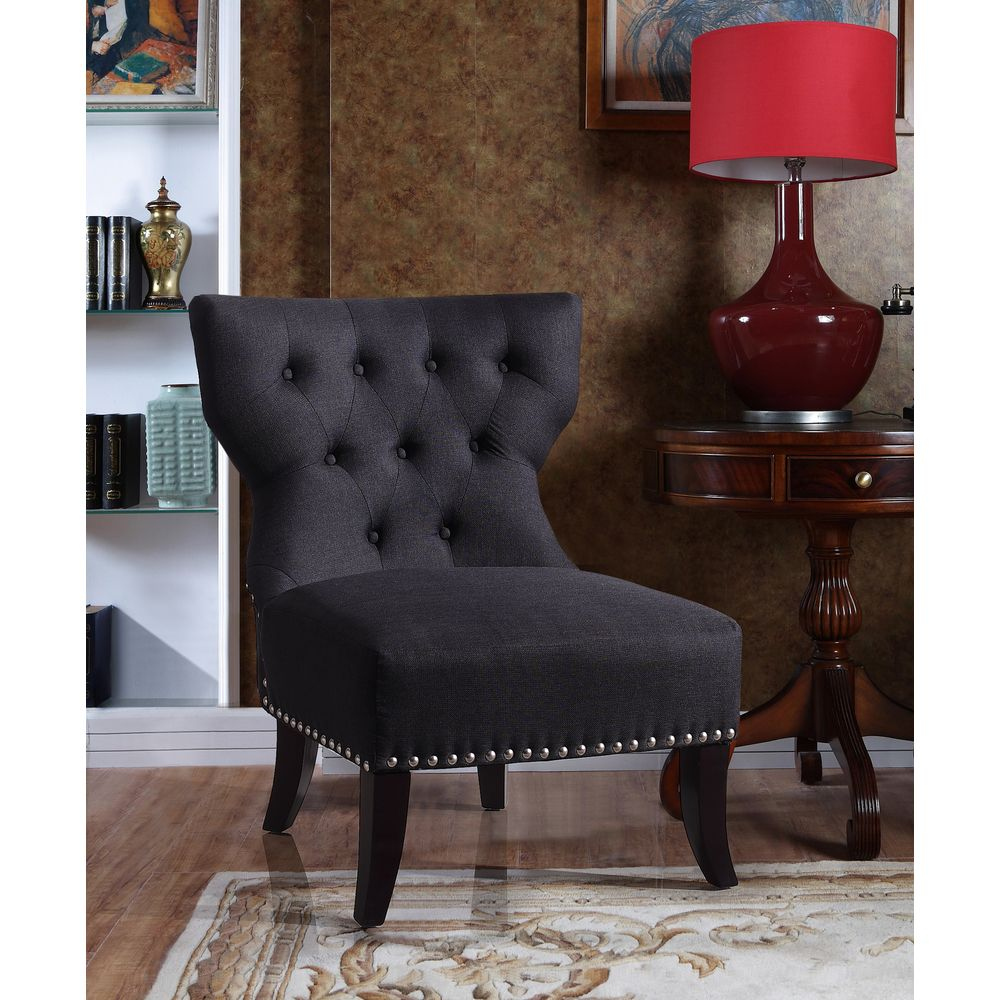 Waterloo Charcoal Tufted Accent Chair