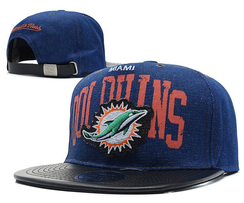 caff07cc1e2 NFL MIAMI DOLPHINS SNAPBACK Mitchell And Ness Snakeskin Navy