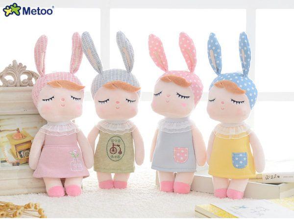 Metoo Puppe Stofftier Plusch Tiere Weich Baby Kinder Spielzeug Fur