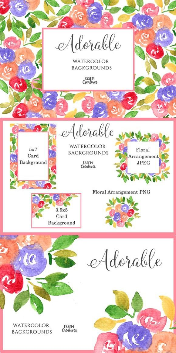 5x7 Floral Pattern Card Backgrounds Wedding Card Templates 10 00