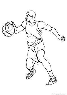 Basketball Players Kleurplaten Sporten Adult Coloring Basketball