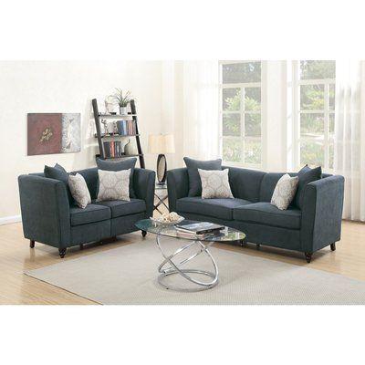 Superb Latitude Run Berus Velveteen 2 Piece Living Room Set Ibusinesslaw Wood Chair Design Ideas Ibusinesslaworg