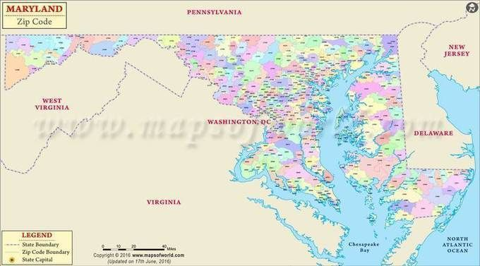 Map Of Virginia And Maryland Cities.Maryland Zip Code Map Maryland Postal Code Travel Destinations