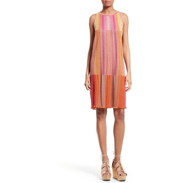 b0eebe2fcbbb33 Women s M Missoni Plisse Metallic Knit Shift Dress ( 795) ❤ liked on  Polyvore featuring