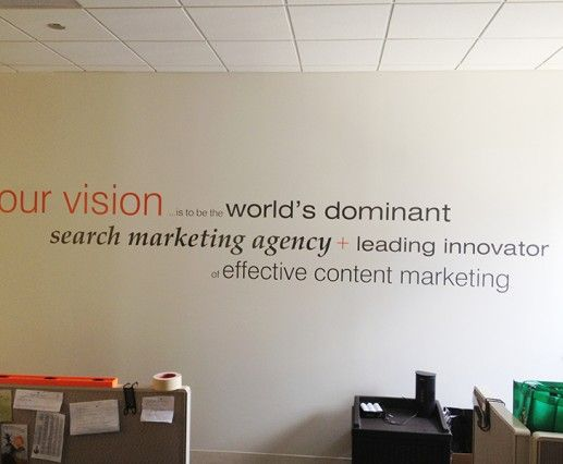 Wall Signage Cut Vinyl Letters Wall Graphics Wall Decals For Corvario  Vision Statement