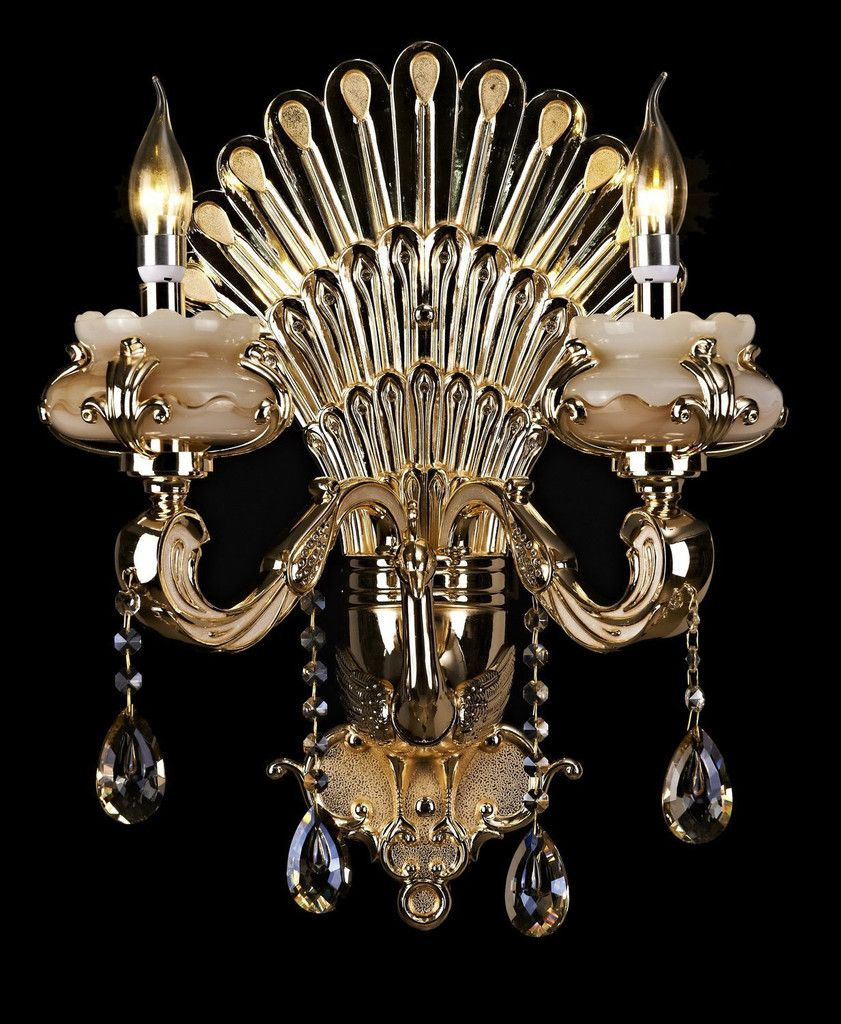 Versailles collection wall mounted crystal chandelier lighting gold versailles collection wall mounted crystal chandelier lighting gold x 2 lights arubaitofo Image collections