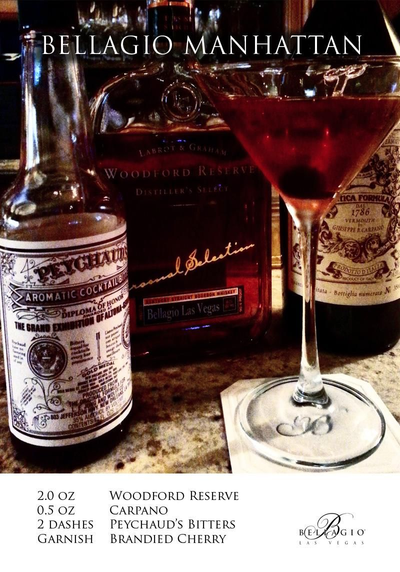 Our personal combination for the perfect Manhattan! #Bellagio #Cocktail #Bourbon