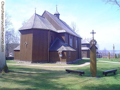 Main Body Backyard View of St. Joseph's Church in Paluse Village, Lithuania