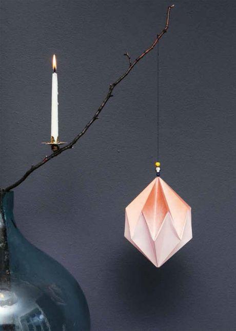 Hjemmelavet Julepynt Smukt Origamiprisme Med Billeder Diy Julepynt Julepynt Juletrae Pynt