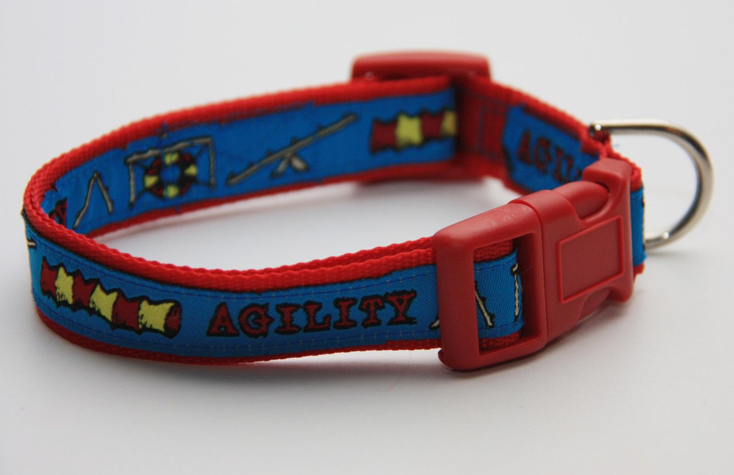 """Blue Agility 3 4"""" Dog Collar Collars Pet Products"""