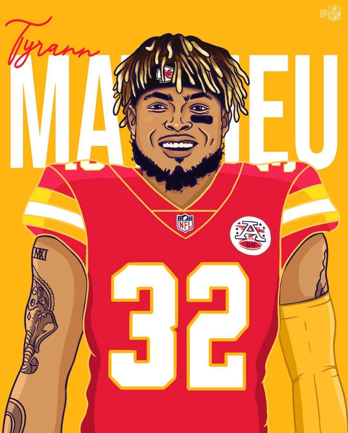 Tyrann Mathieu Great Pickup Got Kansas City Hopefully They Keep Eric Berry And Have These Two Together Nfl Football Pictures Kansas City Nfl Nfl Football Art