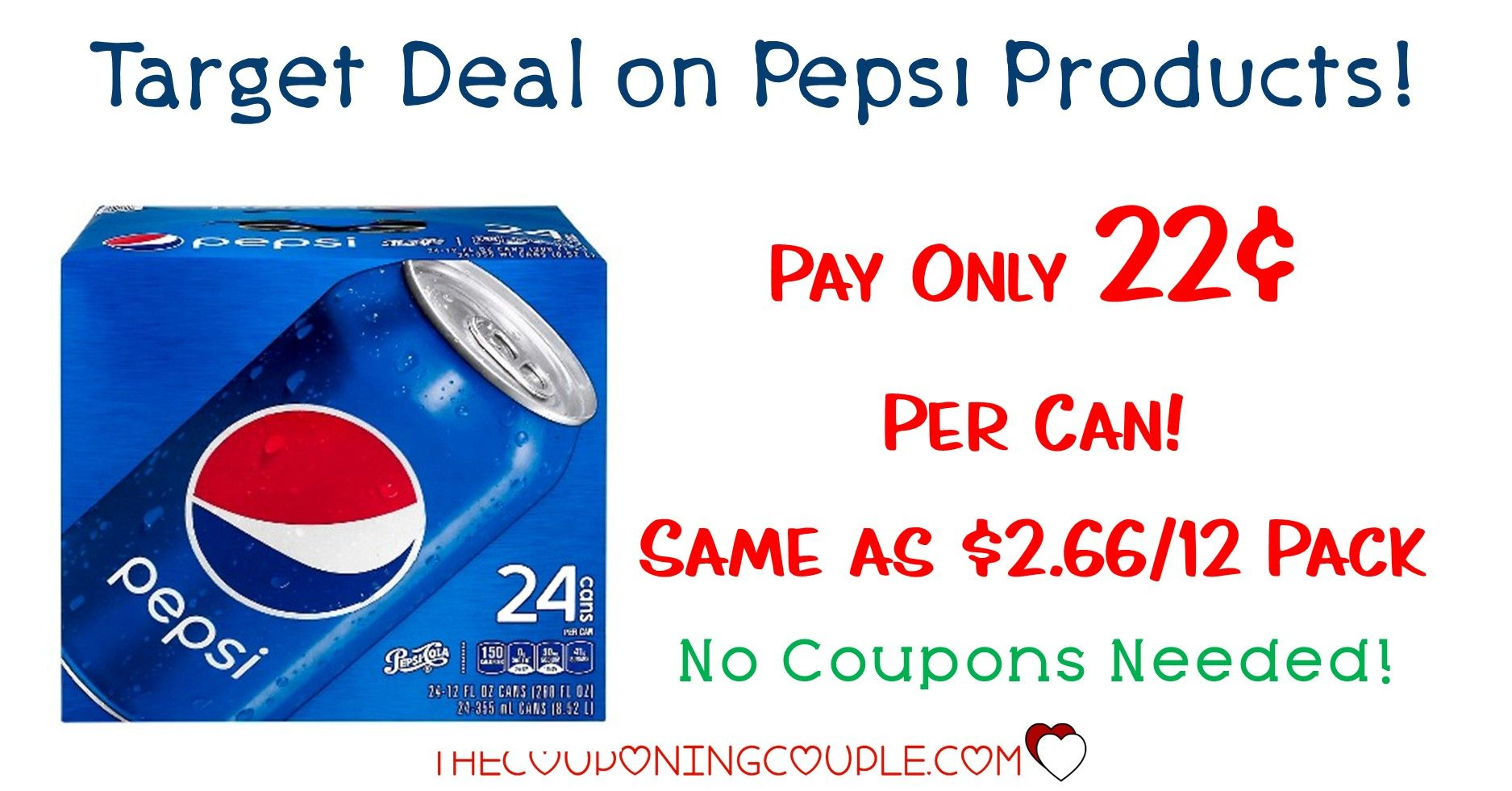 Stock Up Pepsi Products Soda Pop 24 Packs For Only 0 22 Per Can With Target Deal Soda Pop Pepsi Soda