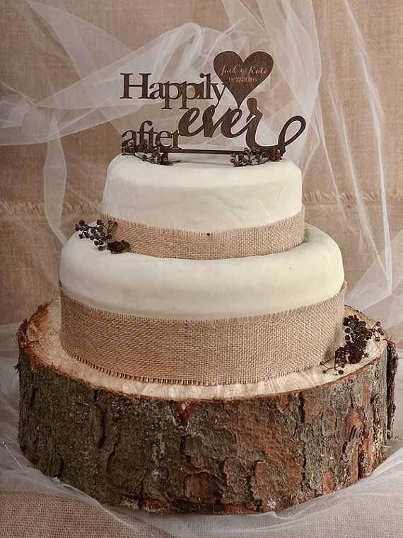 Rustikale Cake Topper Holz Cake Topper Happily Ever After Cake