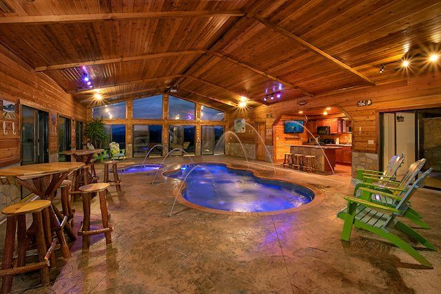 Aug 16 2018 Are You Considering Booking A Luxurious Gatlinburg Cabin With A Private Indoor Pool Check In 2020 Indoor Pool Design Indoor Pool Indoor Swimming Pools