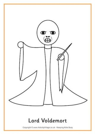 Ron Weasley Colouring Page 2 Coloring Pages Lord Voldemort