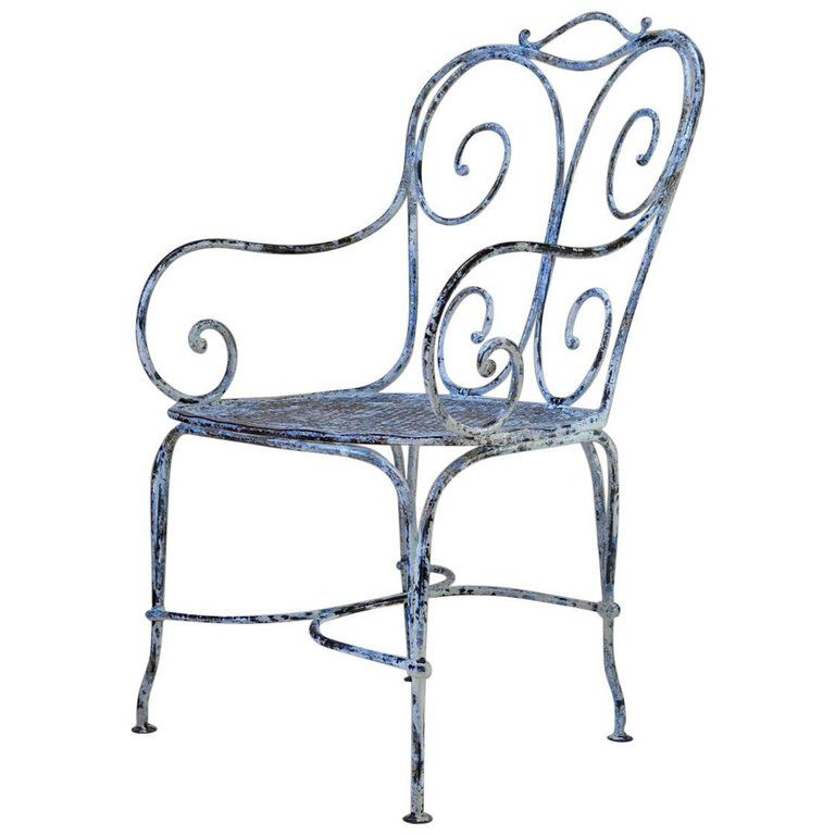 Large Wrought Iron Chair France Circa 1900 Wrought Iron Chairs