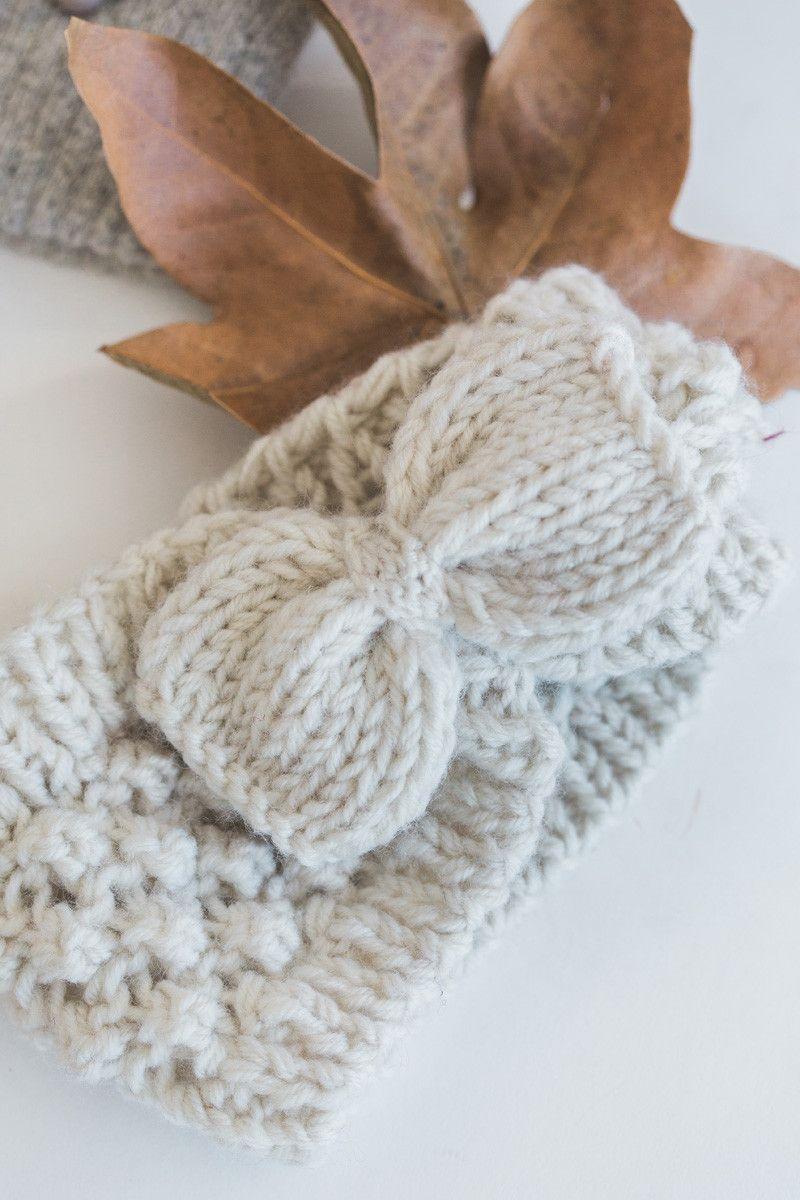 Sahara Knit Bow Headband | Pinterest | Lavender, Crochet and Knit ...