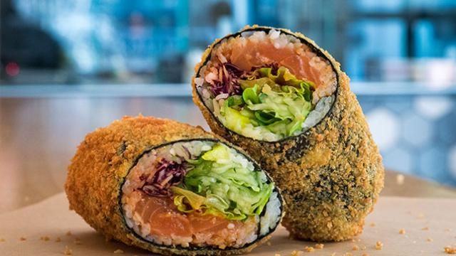 Sushi Burritos at Hai Street Kitchen Are Even Better Flash Fried ...