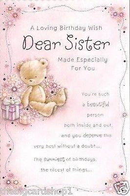 Sister birthday card especially for you happy birthday sister sister birthday card especially for you bookmarktalkfo Gallery
