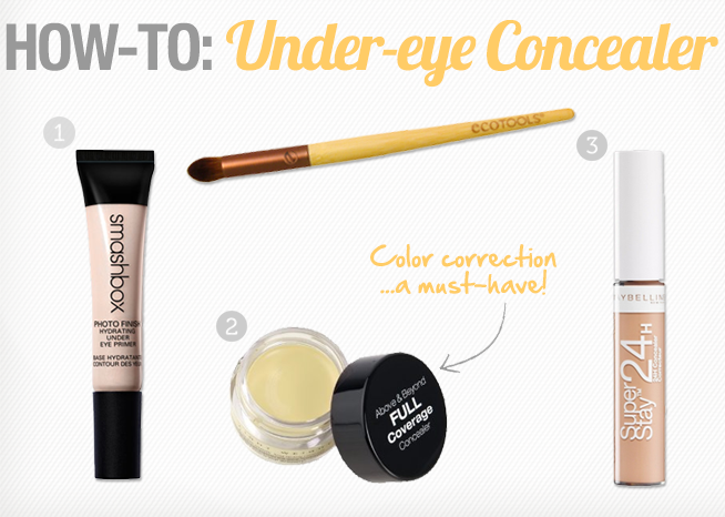 how to cover under-eye dark circles, how to color correct, color ...