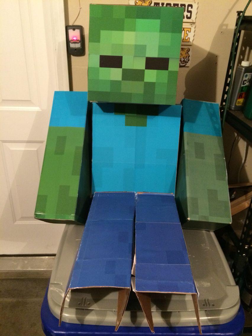 Zombie ready to terrorize.  Minecraft halloween costume, Zombie