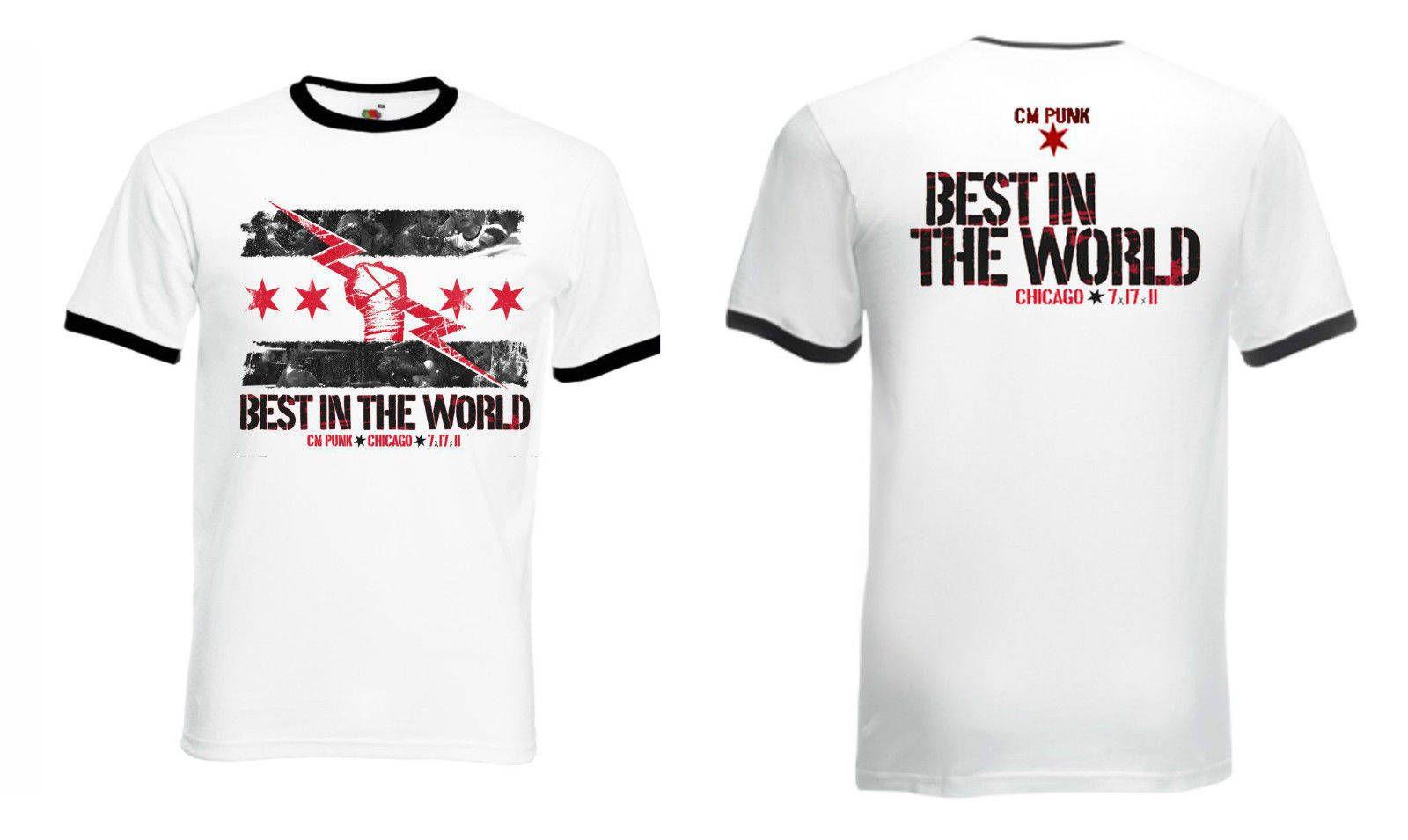 5e4e935c New WWE CM PUNK Best in The World T-Shirt White Ringer by BigBOSSTees on  Etsy