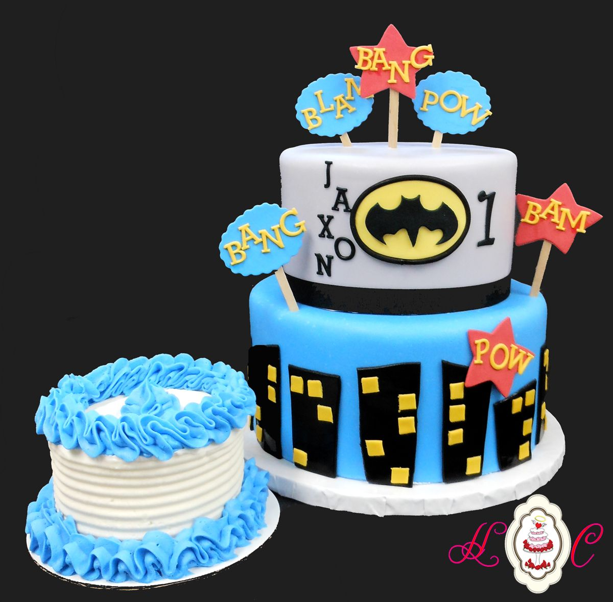 Batman First Birthday Cake & Baby Smash Cake by HC | Heavenly ...